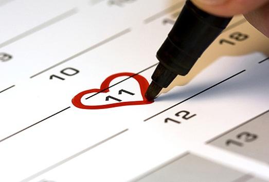 отмечать важные даты на календаре